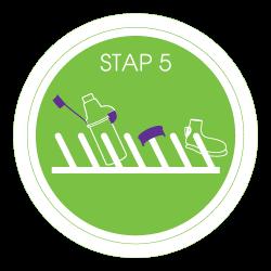 voorzetkamer schoonmaken stap 5